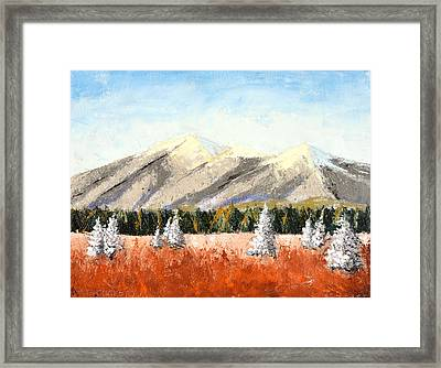 San Francisco Mountains Framed Print