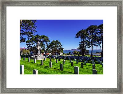 San Francisco National Cemetery Framed Print by Scott McGuire