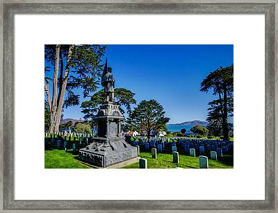 San Francisco National Cemetery Soldiers Memorial Framed Print by Scott McGuire