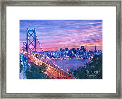 San Francisco Nights Framed Print by David Lloyd Glover