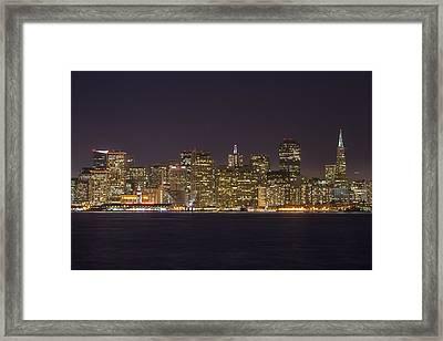 San Francisco Nighttime Skyline 1 Framed Print