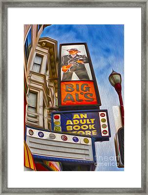 San Francisco - North Beach - 04 Framed Print by Gregory Dyer
