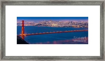 San Francisco Panorama Framed Print by Inge Johnsson