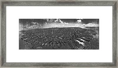 San Francisco Panorama Framed Print by Underwood Archives