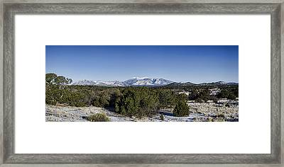 San Francisco Peaks Framed Print by Heather Applegate