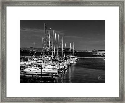 San Francisco - Pier 39 Marina 001 Framed Print by Lance Vaughn