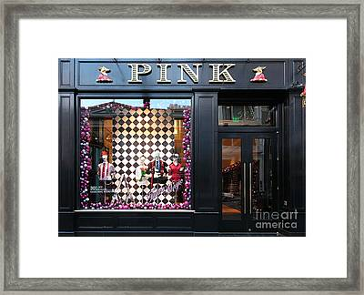 San Francisco Pink Storefront - 5d20565 Framed Print by Wingsdomain Art and Photography