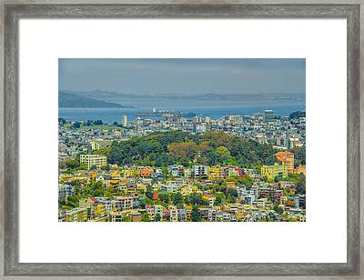 San Francisco - Scenic Cityscape Framed Print by Ben and Raisa Gertsberg