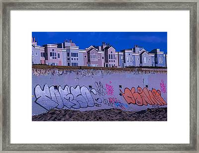 San Francisco Sea Wall Framed Print