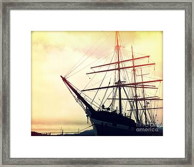 San Francisco Ship I Framed Print by Chris Andruskiewicz