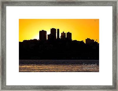 San Francisco Silhouette Framed Print by Kate Brown
