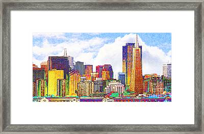 San Francisco Skyline Along The Embarcadero 5d29399 Photoart Long Framed Print