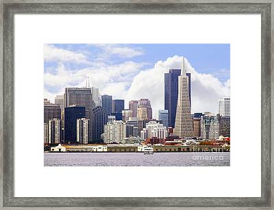 San Francisco Skyline Along The Embarcadero 5d29399 Framed Print