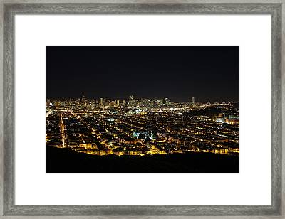 Framed Print featuring the photograph San Francisco Skyline by Dave Files