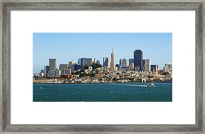 San Francisco Skyline Framed Print by Kelley King