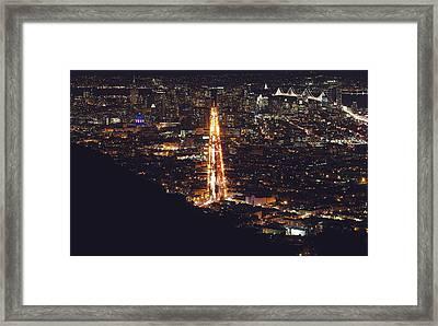 San Francisco Skyline  Framed Print by Kenny Noddin