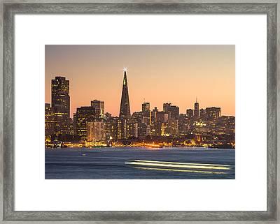 San Francisco Skyline Late Evening Framed Print