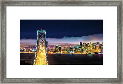 San Francisco Skyline Panorama And Framed Print by Dszc