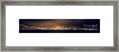 San Francisco Skyline Framed Print by Ron Smith
