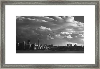 San Francisco Skyline Framed Print by Sean Foster