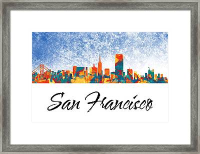 San Francisco Skyline  Framed Print by Special Tees