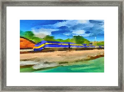 San Francisco Speed Train Framed Print by Yury Malkov