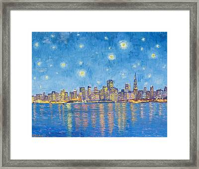 San Francisco Starry Night Framed Print