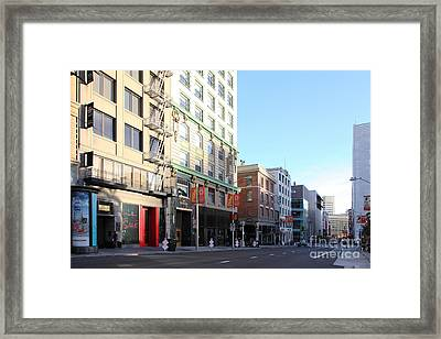 San Francisco Stockton Street At Union Square - 5d20564 Framed Print
