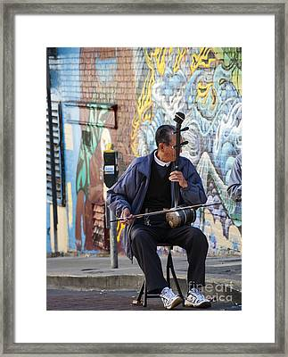 San Francisco Street Musician Framed Print by Juli Scalzi