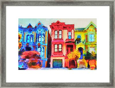 San Francisco Streets 1 Framed Print by Yury Malkov