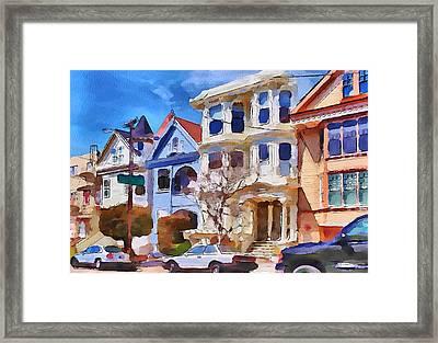 San Francisco Streets 3 Framed Print by Yury Malkov