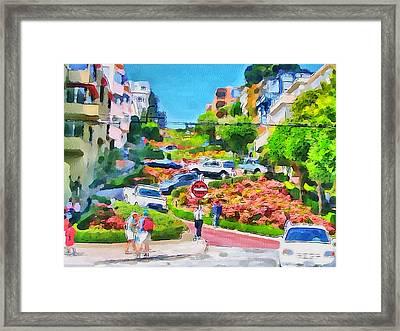 San Francisco Streets 6 Framed Print by Yury Malkov
