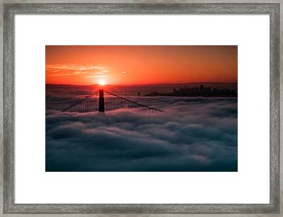 Framed Print featuring the photograph San Francisco Sunrise by Brian Bonham