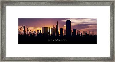 San Francisco Sunset Framed Print