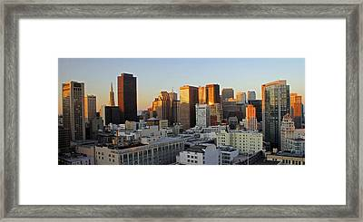 San Francisco Sunset Framed Print