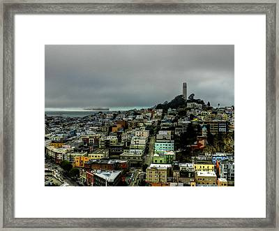 San Francisco - Telegraph Hill 002 Framed Print by Lance Vaughn