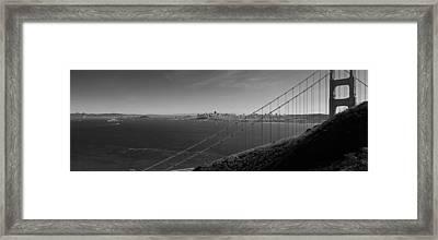 San Francisco Through The Golden Gate Bridge Framed Print by Twenty Two North Photography