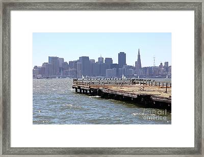 San Francisco Through The Treasure Island Pier 5d25350 Framed Print