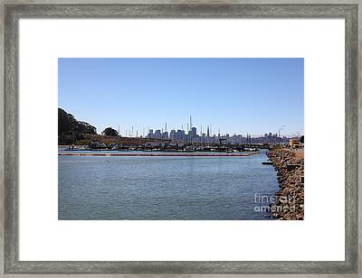 San Francisco Through The Treasure Isle Marina 5d25366 Framed Print by Wingsdomain Art and Photography