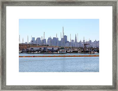 San Francisco Through The Treasure Isle Marina 5d25367 Framed Print by Wingsdomain Art and Photography