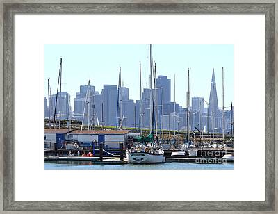 San Francisco Through The Treasure Isle Marina 7d25458 Framed Print by Wingsdomain Art and Photography