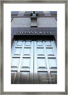 San Francisco Tiffany And Company Store Doors - 5d20562 Framed Print by Wingsdomain Art and Photography