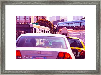 San Francisco Traffic Jam Framed Print by Artist and Photographer Laura Wrede
