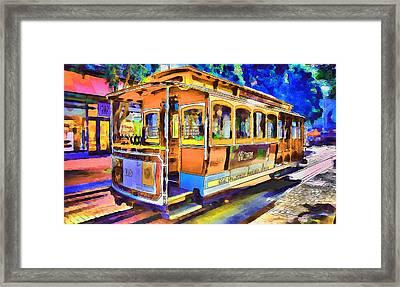 San Francisco Trams 1 Framed Print by Yury Malkov
