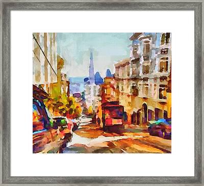 San Francisco Trams 11 Framed Print by Yury Malkov