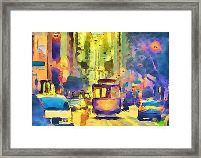 San Francisco Trams 12 Framed Print by Yury Malkov