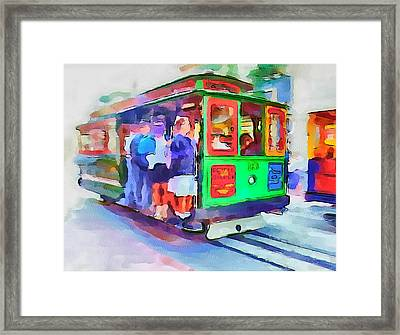 San Francisco Trams 3 Framed Print by Yury Malkov
