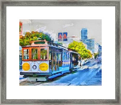 San Francisco Trams 4 Framed Print by Yury Malkov