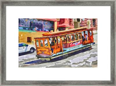 San Francisco Trams 5 Framed Print by Yury Malkov