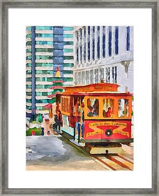 San Francisco Trams 6 Framed Print by Yury Malkov